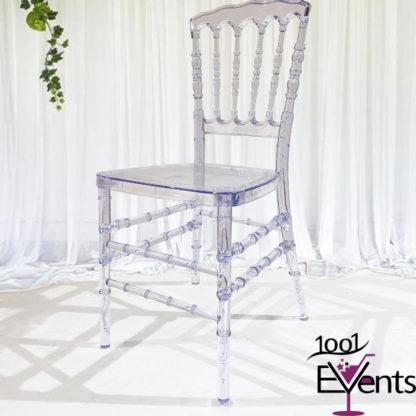 Chaise Napoleon Cristal - 1001 Events - Fournisseurs accessoires mariage evenement - 00002