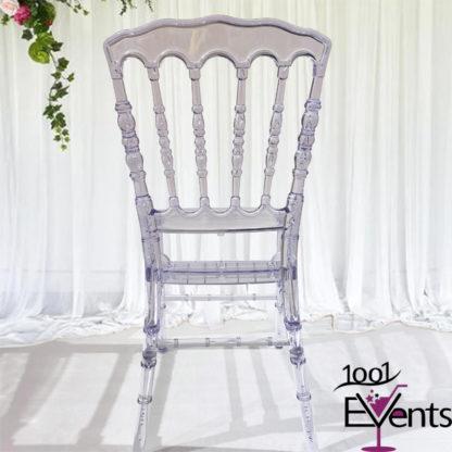 Chaise Napoleon Cristal - 1001 Events - Fournisseurs accessoires mariage evenement - 00003