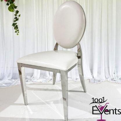Chaise Deluxe medaillon argent silver - 1001 Events - Fournisseur Accessoires Evenements Mariage00001