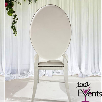 Chaise Deluxe medaillon argent silver - 1001 Events - Fournisseur Accessoires Evenements Mariage00002