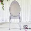 Chaise Princesse Medaillon Cristal - 1001 Events - Fournisseur Accessoires Evenements Mariage00002